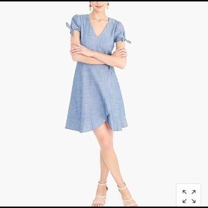 Jcrew chambray faux wrap dress. New with tag